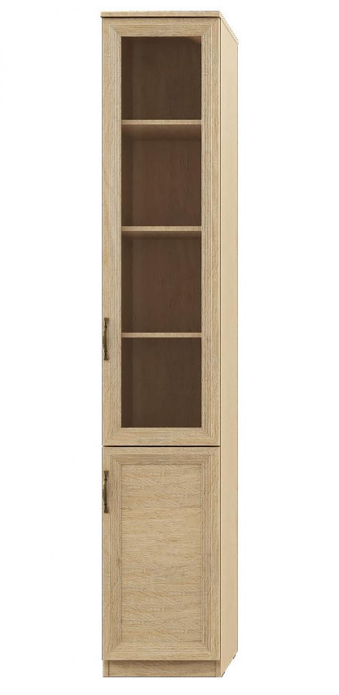 """Лира"" 114 Шкаф-пенал 2-двер, фасады СТЕКЛ+ДСП - 5608"