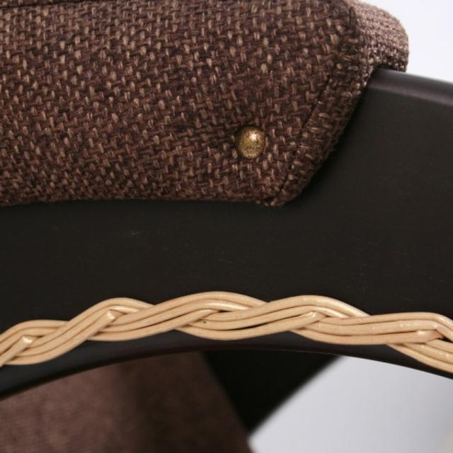 Кресло-качалка, Модель 4 (с декоративной косичкой) Венге/Мальта 17 - 6069