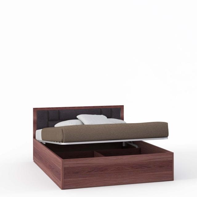 Спальня Rimini Choco Кровать 2 сп. с п/м, мягк.изг.шоко (1600) - 5438