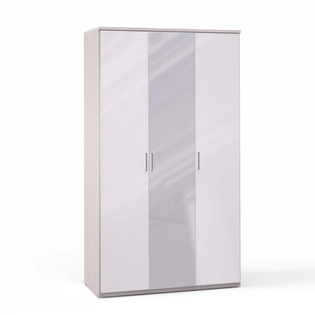 Спальня Rimini Ice Шкаф 3 дв. (1+1+1) с зерк. - 5486