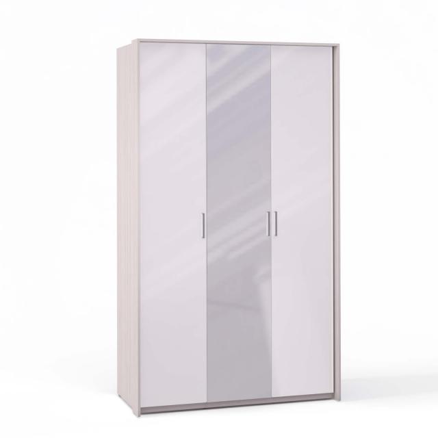 Спальня Rimini Ice Шкаф 3 дв. (1+2) с зерк. паспарту - 5491