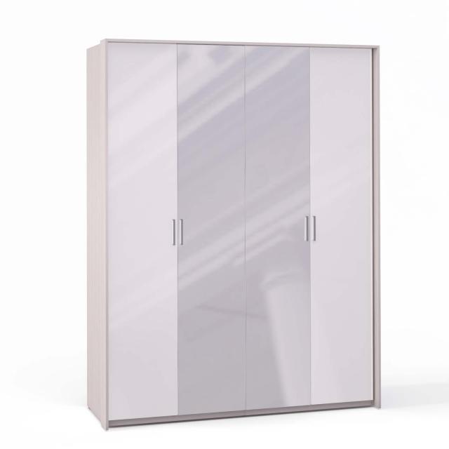 Спальня Rimini Ice Шкаф 4 дв. (2+2) с зерк. паспарту - 5499