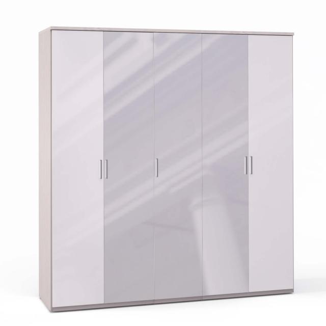 Спальня Rimini Ice Шкаф 5 дв. (2+1+2) с зерк. - 5502