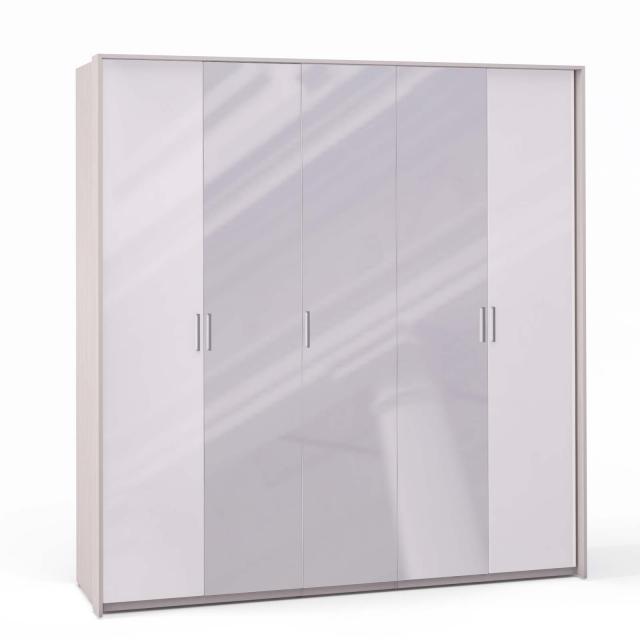 Спальня Rimini Ice Шкаф 5 дв. (2+1+2) с зерк. паспарту - 5503