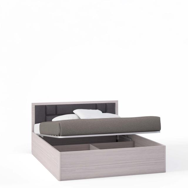 Спальня Rimini Mokko Кровать 2 сп. с п/м, мягк.изг.шоколад (1600) - 5508