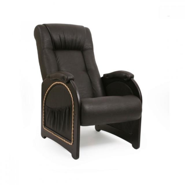 Кресло для отдыха, Модель 43 (с карманами с декоративной косичкой) Венге/Дунди 108 - 6102