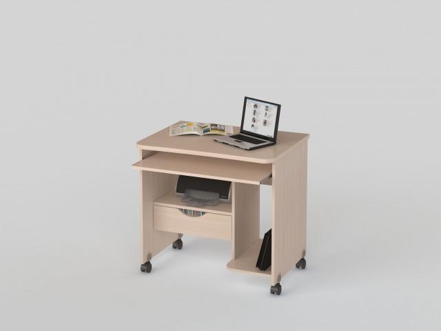 Стол компьютерный КС 20-06 Дуб молочный - 3843