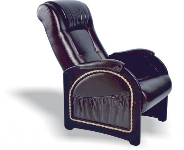 Кресло качалка Глайдер, Модель 48 (с карманами с декоративной косичкой) Венге/Орегон 120 - 6106