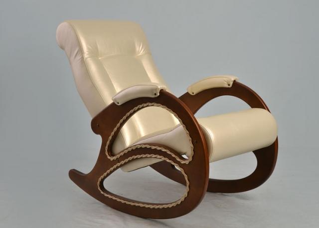 Кресло-качалка, Модель 4 (с декоративной косичкой) Орех/Орегон 106 - 6074
