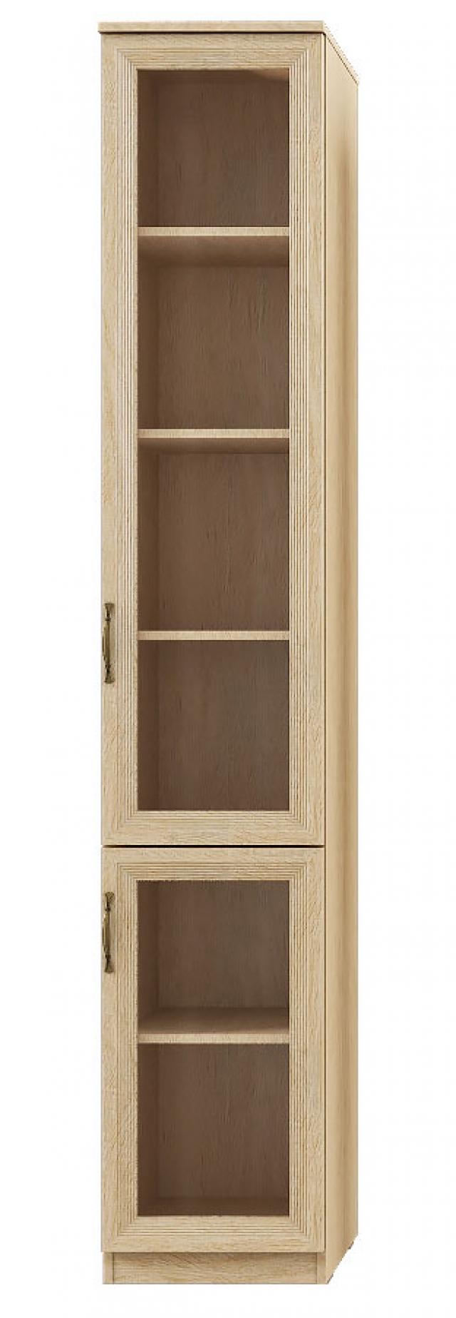 """Лира"" 113 Шкаф-пенал 2-двер, фасады СТЕКЛ - 5607"