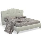 Ария Светлая Кровать с мягкой спинкой с.м.160х200 на ножках 702.2216 - 4116