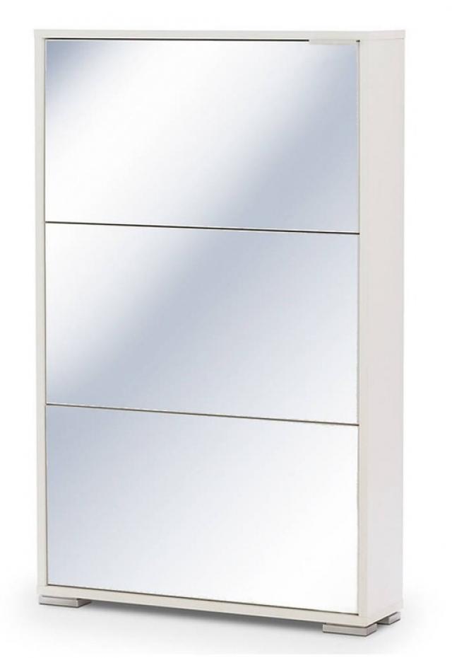 Тумба для обуви VIVA-3S белый/зеркало - 6023