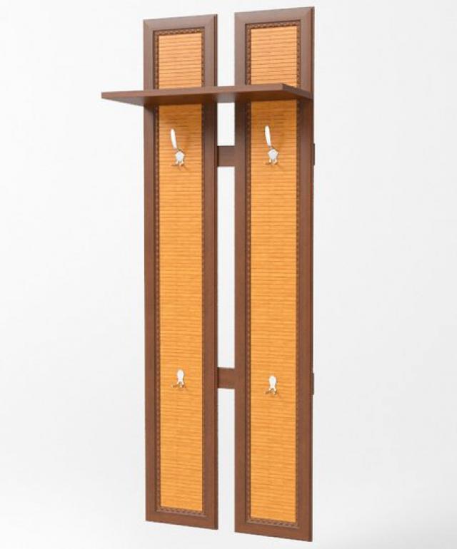 Сакура Орех Вешалка 2х-секционная В02 - 3786