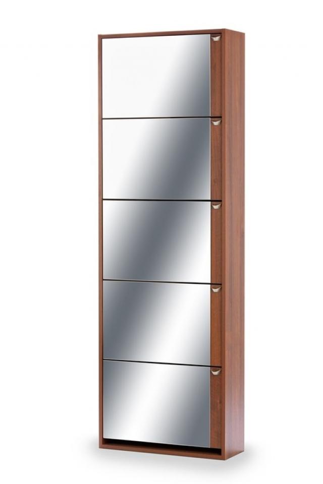Тумба для обуви К-5 (зеркальная) темный орех - 5990