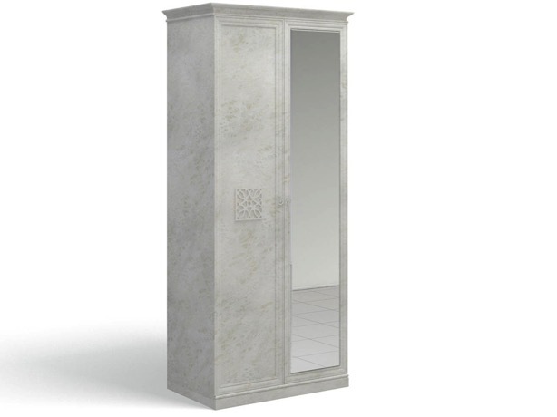 Ария Светлая Шкаф для одежды с зеркалом 701.01Z-B - 4094